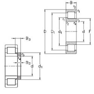 Bearing NJ208-E-TVP3+HJ208-E NKE