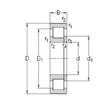 Bearing NUP222-E-TVP3 NKE