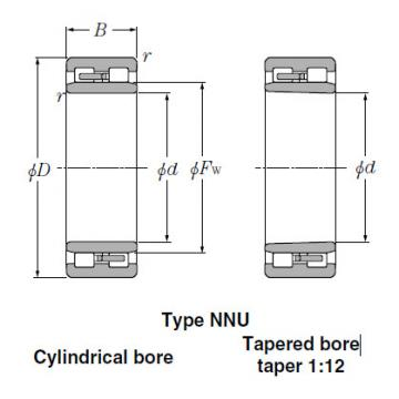Bearings Tapered Roller Bearings NN3044K