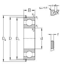 Bearing 6412-NR NKE