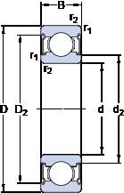 Bearing 638/5-2Z SKF