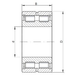 Bearing NNCL4918 V ISO