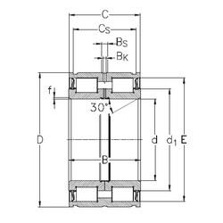 Bearing NNF5008-2LS-V NKE