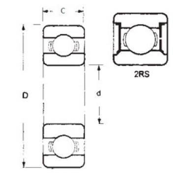 Bearing 6406-2RS FBJ