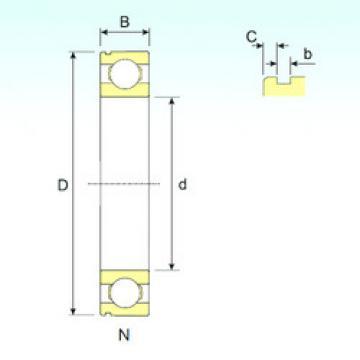 Bearing 6408 N ISB