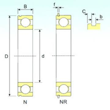 Bearing 6408 NR ISB