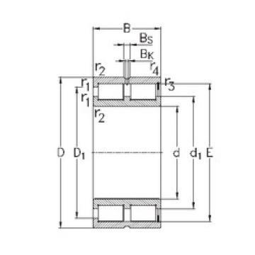 Bearing NNCF5072-V NKE