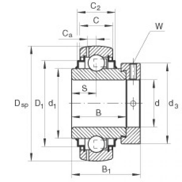 Bearing GNE70-KRR-B INA #1 image