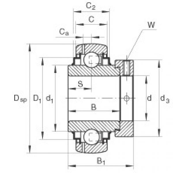 Bearing GNE80-KRR-B INA #1 image