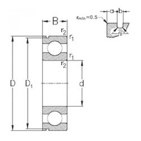 Bearing 6408-N NKE #1 image