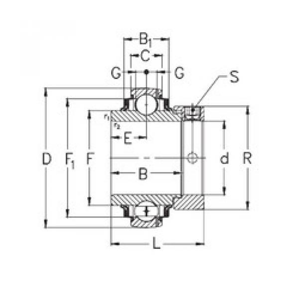 Bearing GNE70-KRRB NKE #1 image