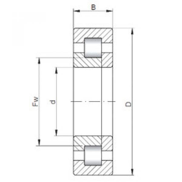 Bearing NUP1017 CX #1 image